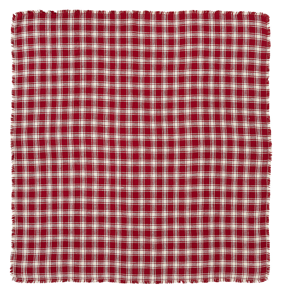 Breckenridge Burlap Plaid Tablecloth, by Victorian Heart.