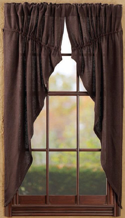 Burlap looking curtains