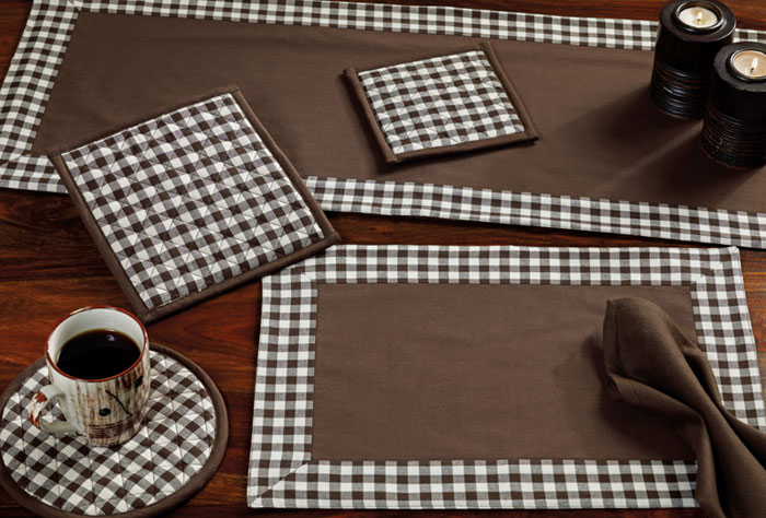 Brownstone Check Runner, by Nancy\\\'s Nook for Victorian Heart