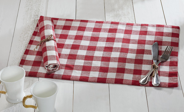 Buffalo Check Red Placemats, by Nancy\'s Nook for Victorian Heart.