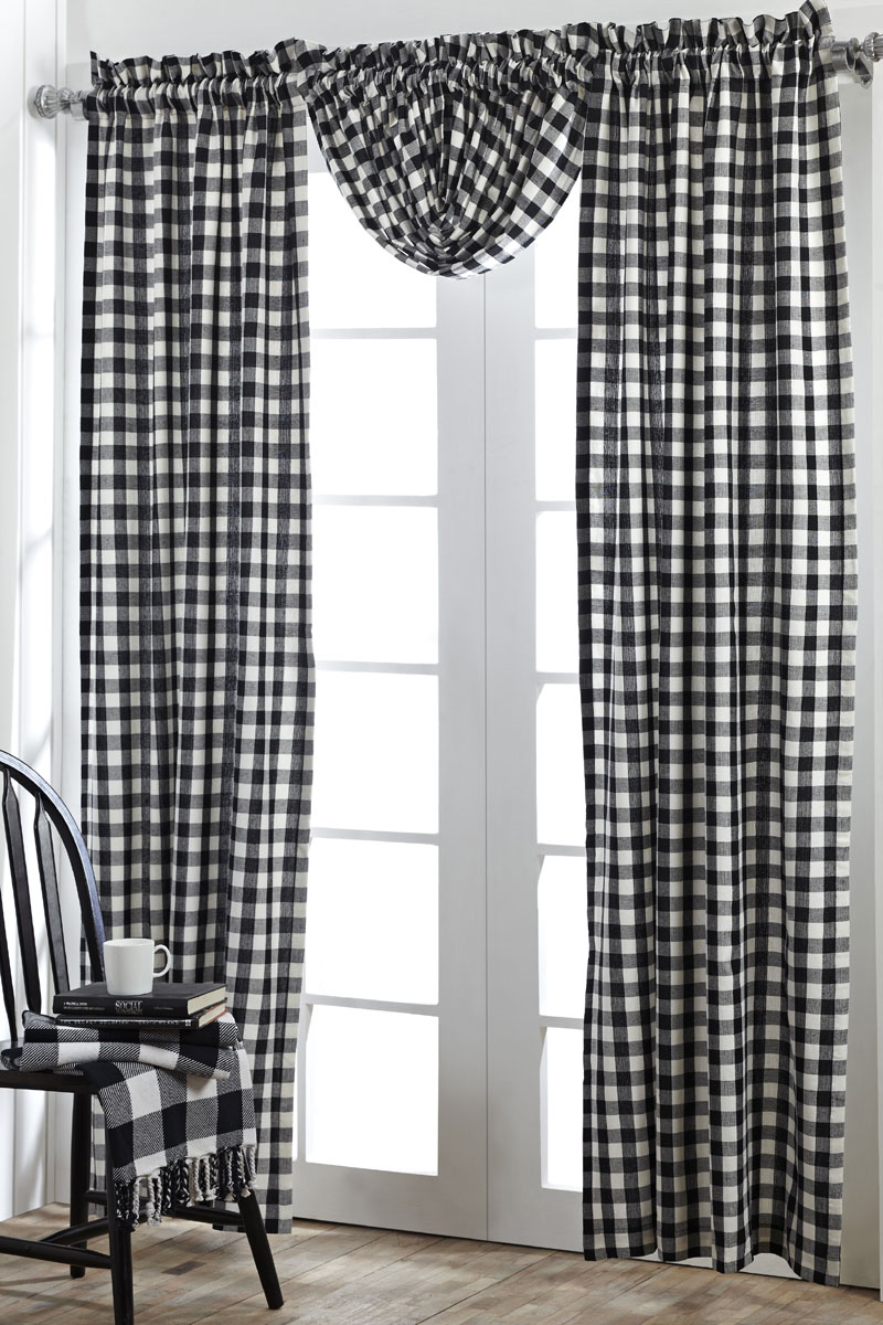 Buffalo Check Black Balloon Valance By Nancy 39 S Nook For Victorian Heart The Weed Patch