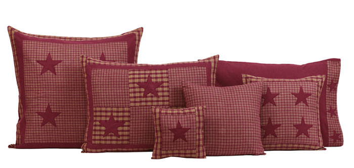 Applique Star Burgundy, by Victorian Heart