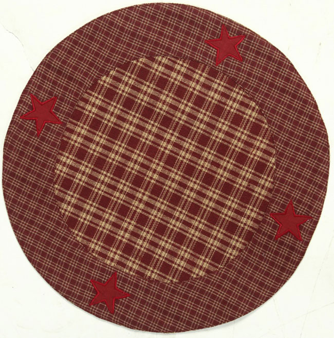 Applique Star Tablemat, Burgundy