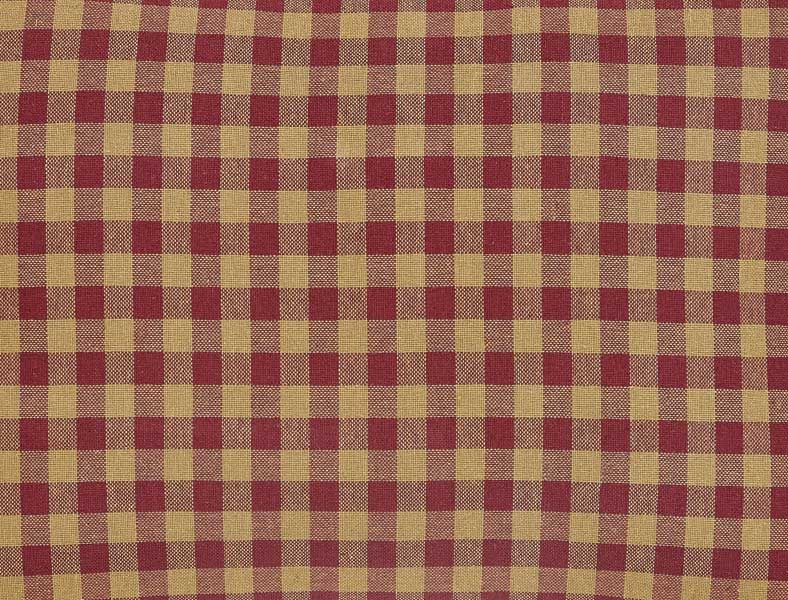 Burgundy checked fabric