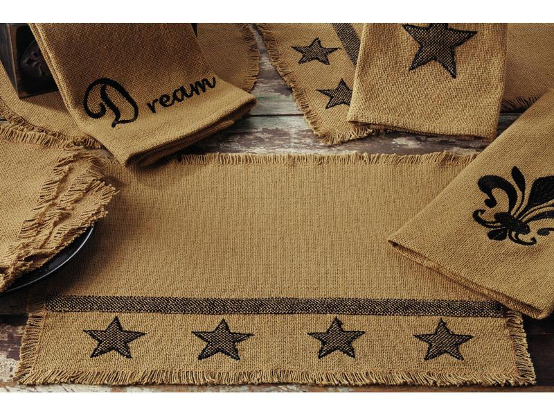 Burlap Star Tablerunner , By India Home Fashions.