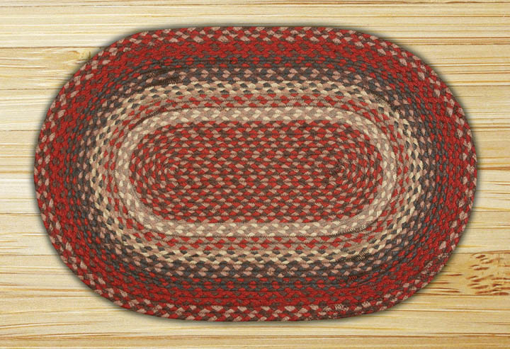 Burgundy Oval Jute Rug, by Capitol Earth Rugs.