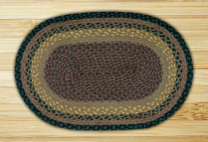 Brown, Black, and Charcoal Oval Jute Rug, by Earth Rugs