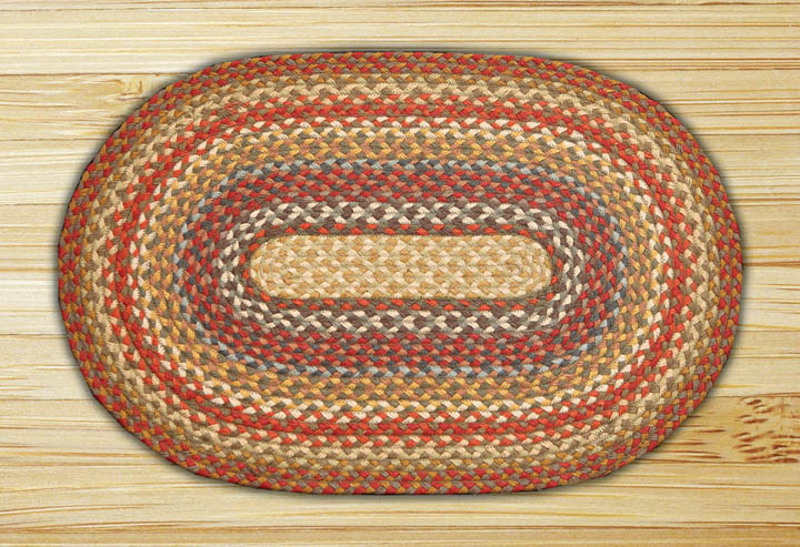 Honey, Vanilla & Ginger Oval Jute Rug, by Capitol Earth Rugs.