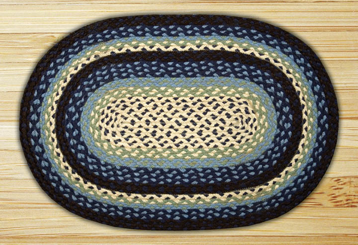 Blueberry & Creme Oval Jute Rug, by Capitol Earth Rugs.