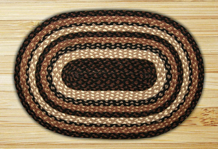 Mocha / Frappuccino Oval Jute Rug, by Capitol Earth Rugs