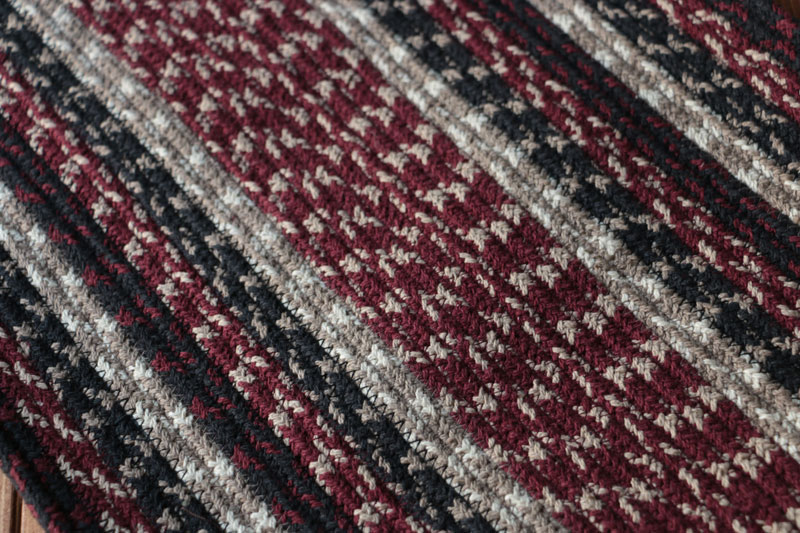 Burgundy Black Amp Tan Cotton Tweed Tablerunner By Capitol