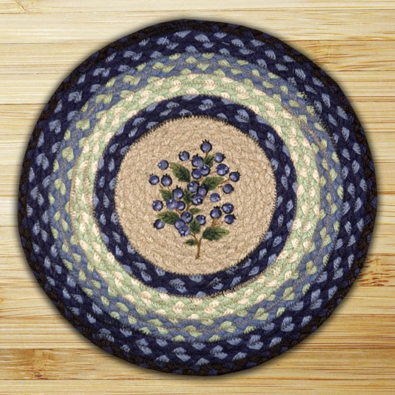 Blueberry Braided Jute Chair Pad By Capitol Earth Rugs