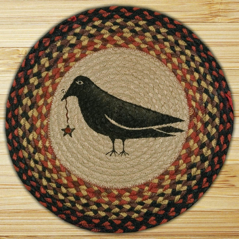 Braided Rug Pad: Crow Braided Jute Chair Pad, By Capitol Earth Rugs.