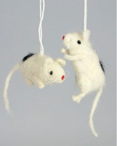 Wee Mouse Felt Ornament, by Cody Foster
