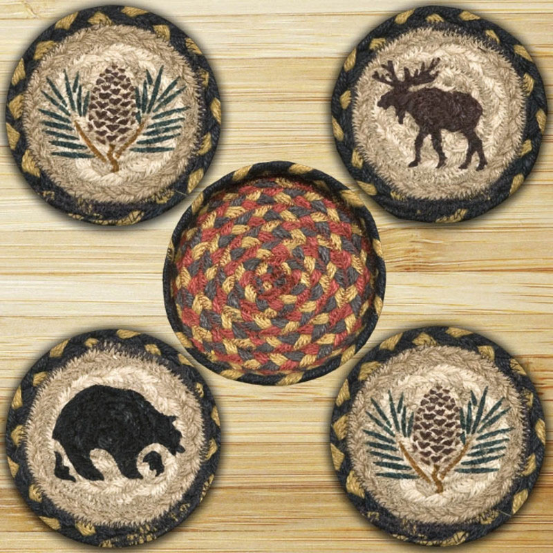 Wilderness Braided Jute Coaster Set, by Capitol Earth Rugs. - Wilderness Braided Jute Coaster Set, By Capitol Earth Rugs. - The
