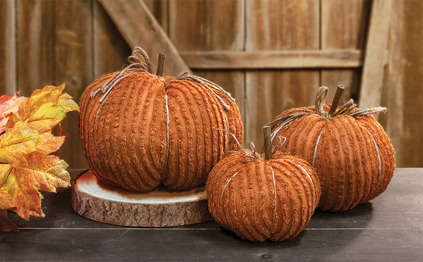 Orange Chenille Pumpkins