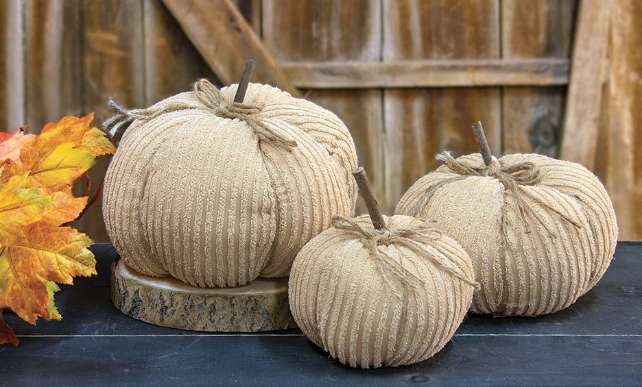 Ivory Chenille Pumpkins