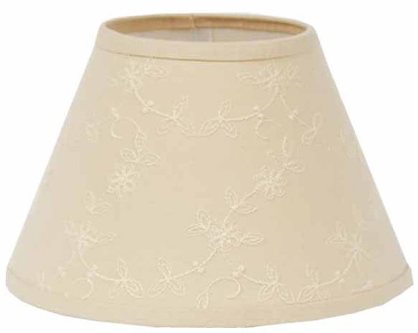 Candlewicking Cream Lampshade, by Raghu. - The Weed Patch