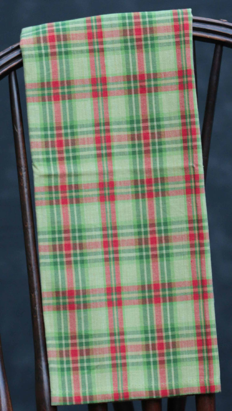 Christmas Tree Plaid Dishtowel, by Split P.