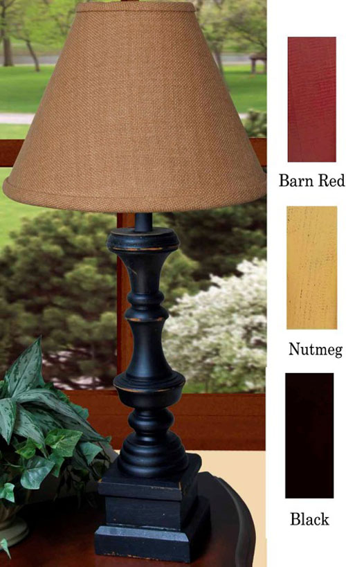 Covington Lamp - Black, Red, or Nutmeg