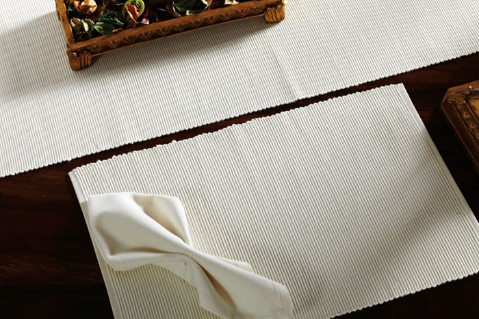 Creme Solid Placemats, by Nancy\'s Nook for Victorian Heart