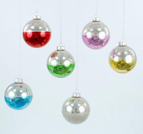 Antiqued Two Tone Ball Ornament, by One Hundred 80 Degrees