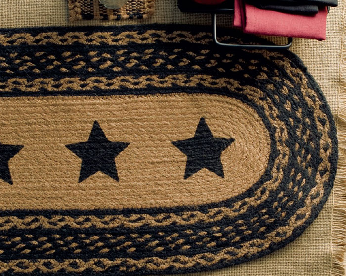 Farmhouse Star Jute Tablerunner, by Victorian Heart