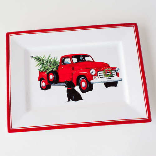 Red Truck Platter By One Hundred 80 Degrees The Weed Patch