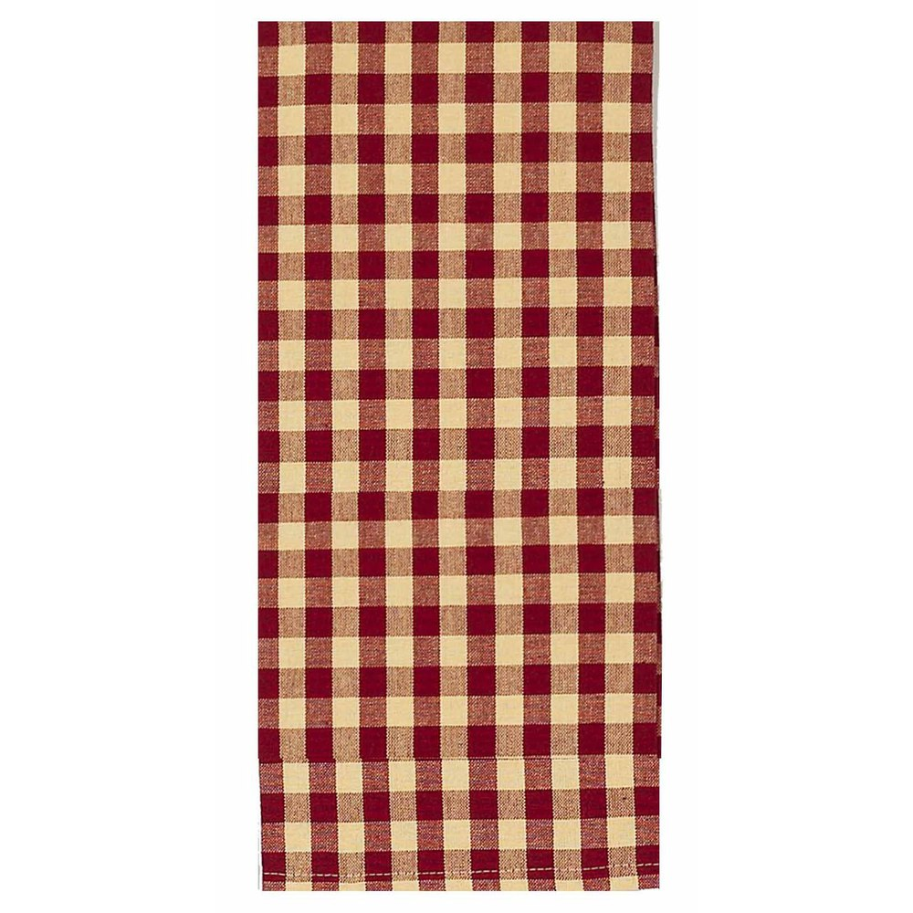 Heritage House Check Red Fabric
