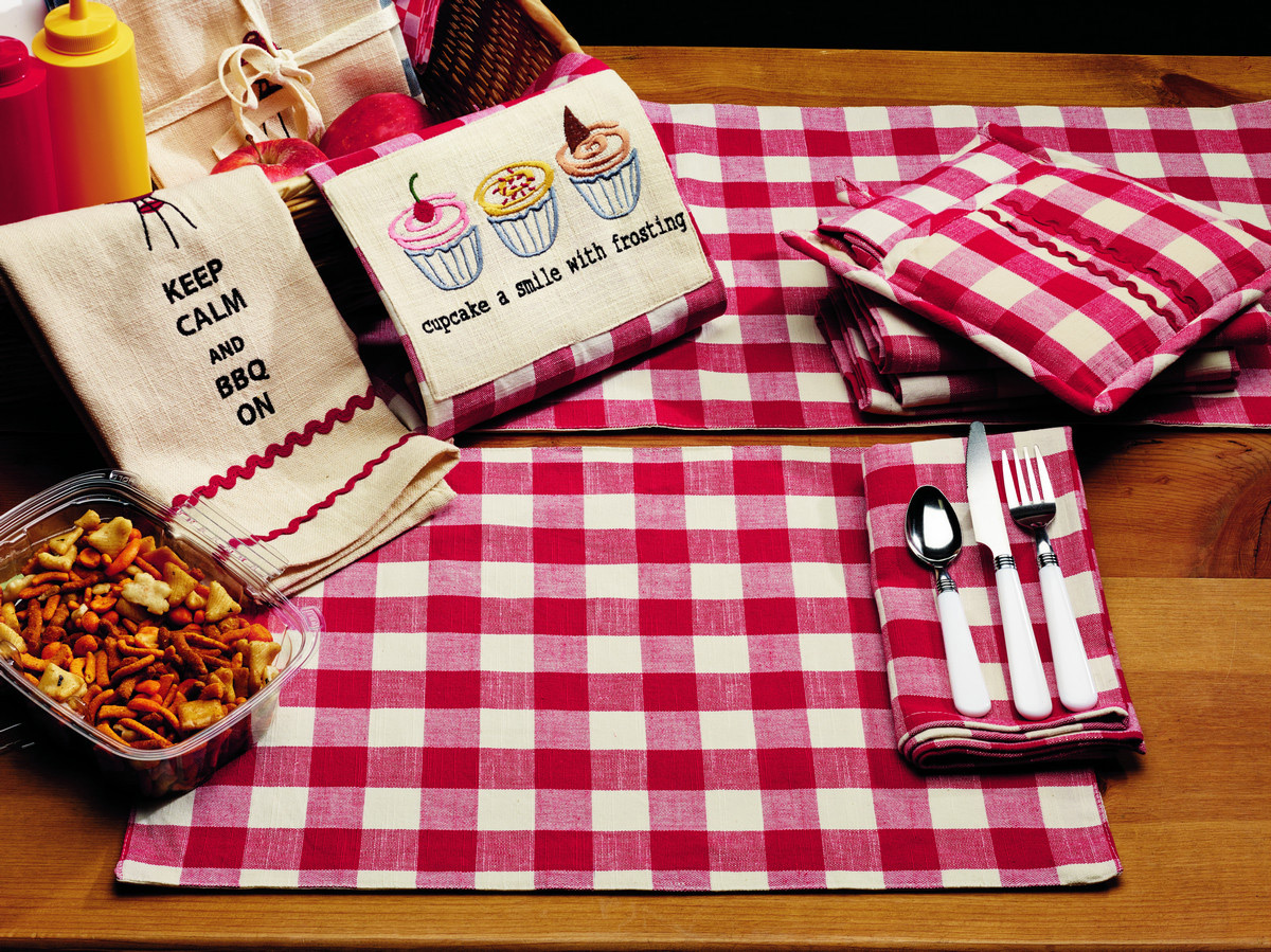 Picnic Red Check 54 Inch Table Runner, By Olivias Heartland