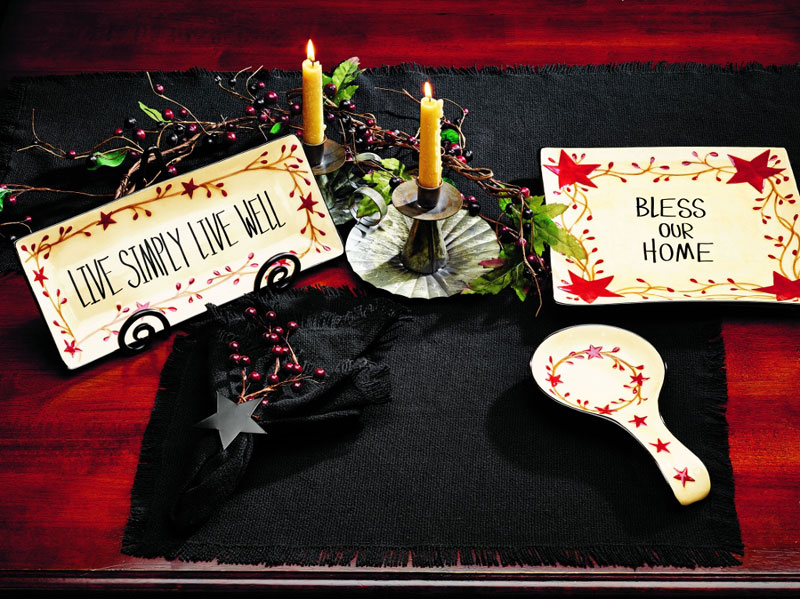 Black Burlap 54 inch Table Runner, by Olivia's Heartland