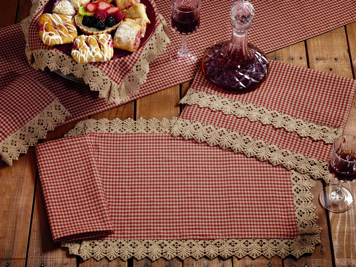 Ava Wine Check 36 inch Table Runner