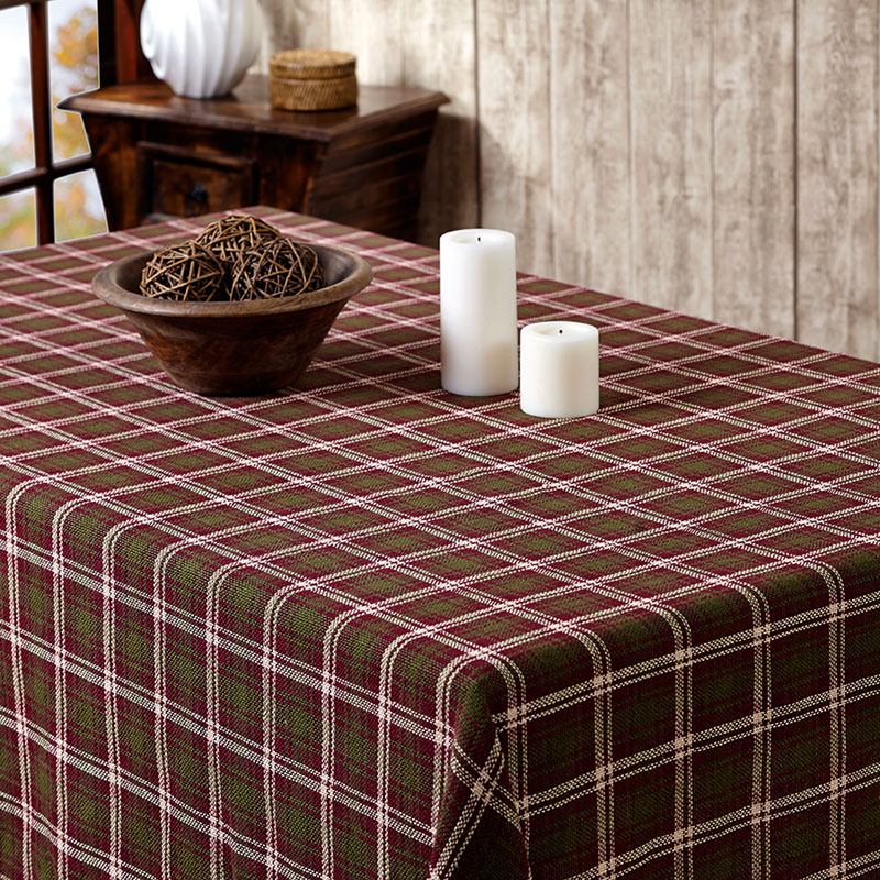 Jackson Burlap Tablecloth, by VHC Brands.