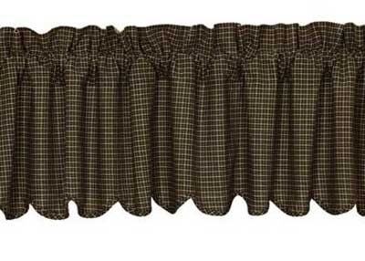 Kettle Grove Plaid Valance, by Victorian heart
