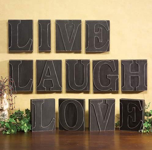 Live, Laugh, Love Giant Printer\'s Blocks (set of 3)