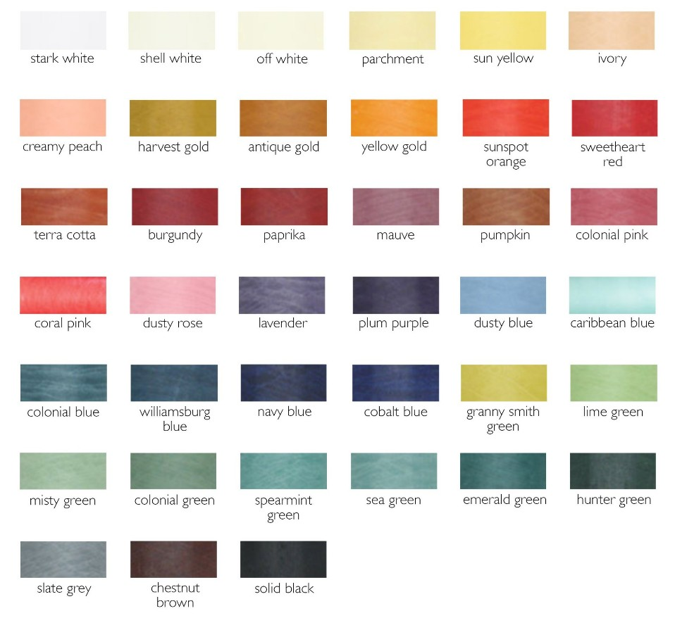 Updated Color Chart