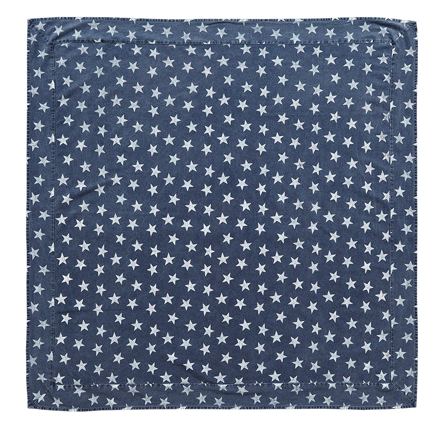 Multi Star Navy Tablecloth, by Victorian Heart