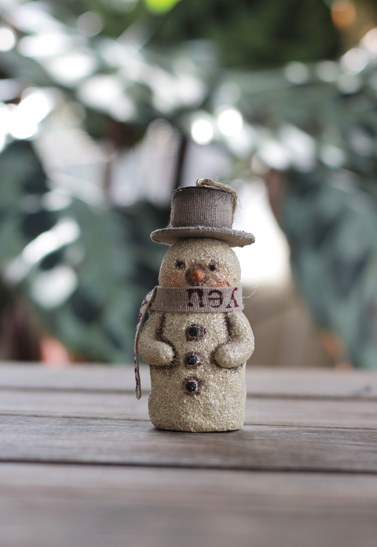 Vintage Retro Style Snowman with a Red Bird Night Light
