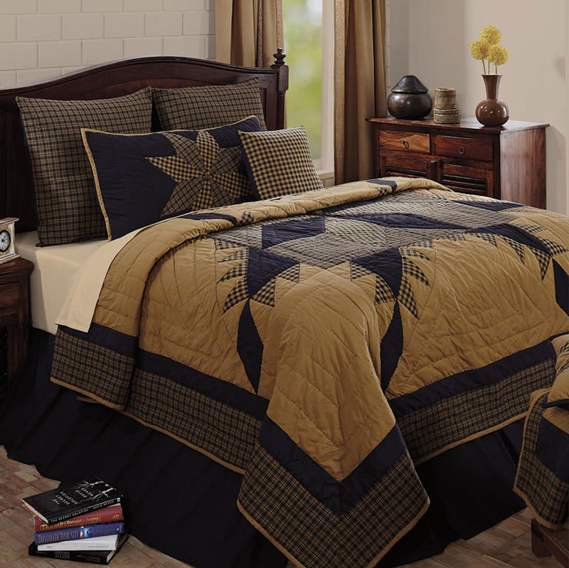 Navy Star King Quilt, by Victorian Heart. - The Weed Patch