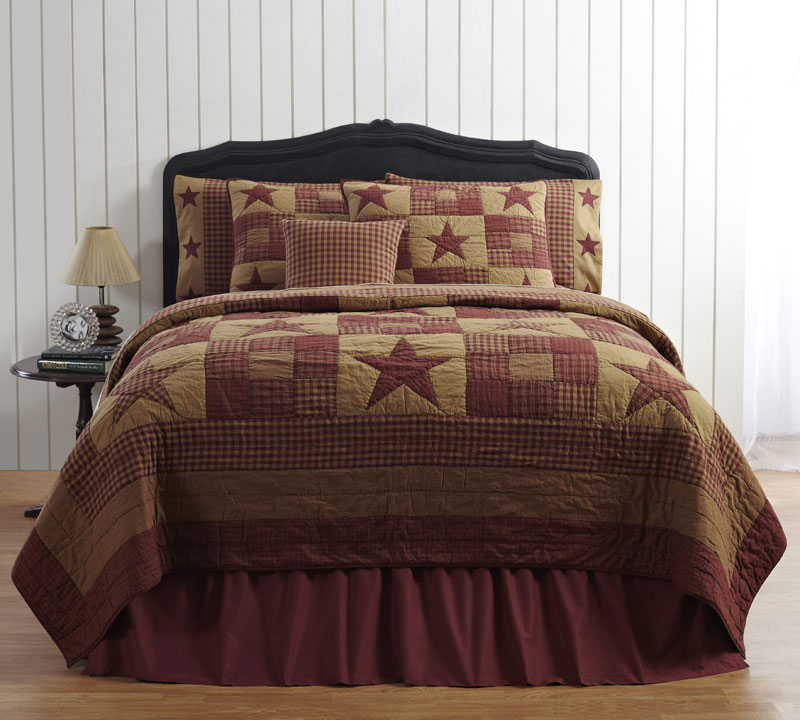 Ninepatch Star Quilt, by Victorian Heart.