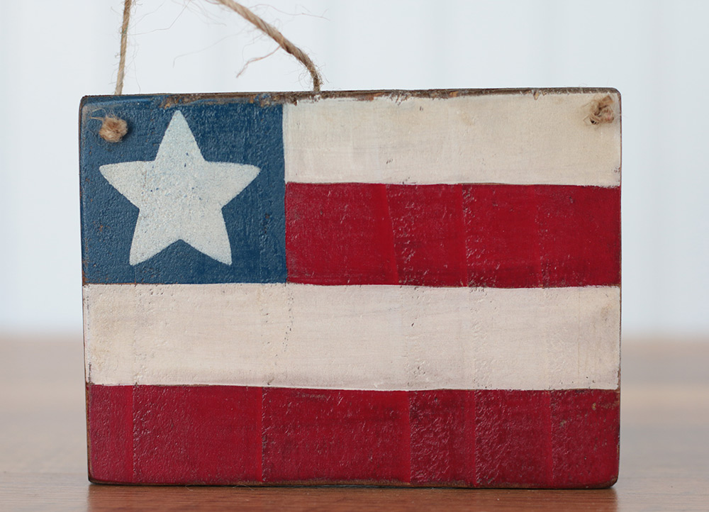 Primitive Flag Small Wooden Sign By Our Backyard Studio In Mill Creek Wa The Weed Patch