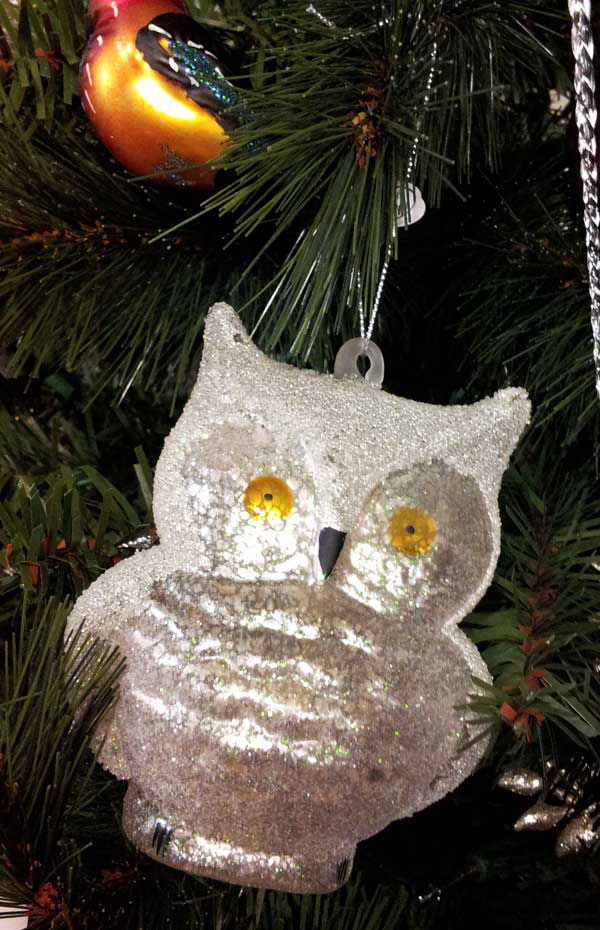 Frosty Owl Ornament, by Cody Foster