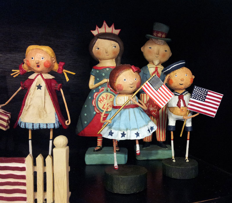 Patriotic Lori Mitchell Figurines