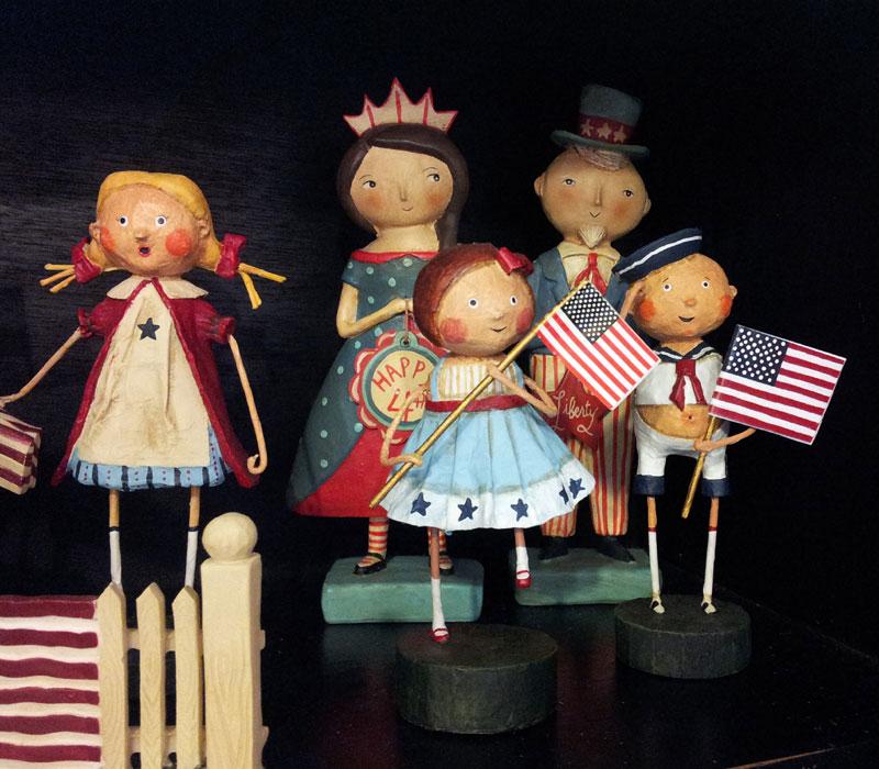 Patriotic Lori Mitchell Figurines