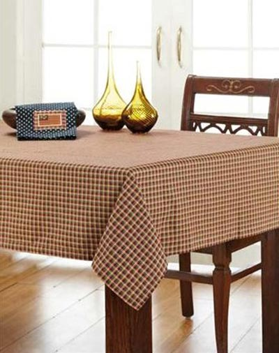 Patriotic Patch Plaid Tablecloth