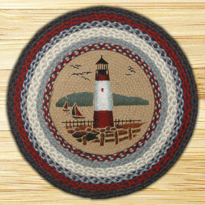 Lighthouse Braided Jute Round Rug, By Capitol Earth Rugs