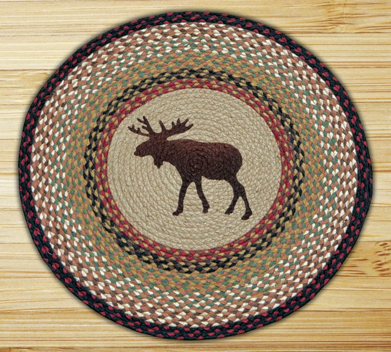 moose braided jute rug round