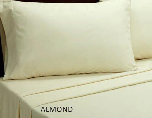 Almond Microfiber Sheet Set, by Victorian Heart.
