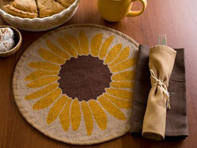 Sunflower Tablemat, by Victorian Heart