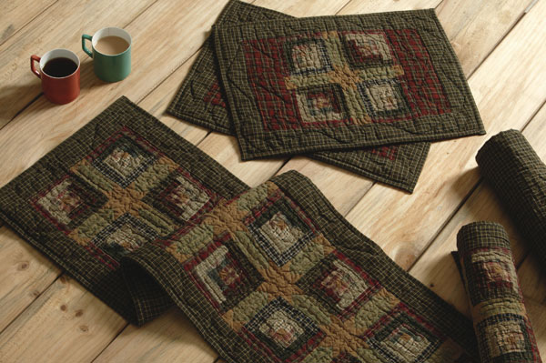 Tea Cabin Tablerunner, by Nancy's Nook